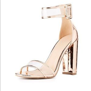 27439835b2 Charlotte Russe Shoes - Charlotte Ruse Clear Metallic dress sandals. 10